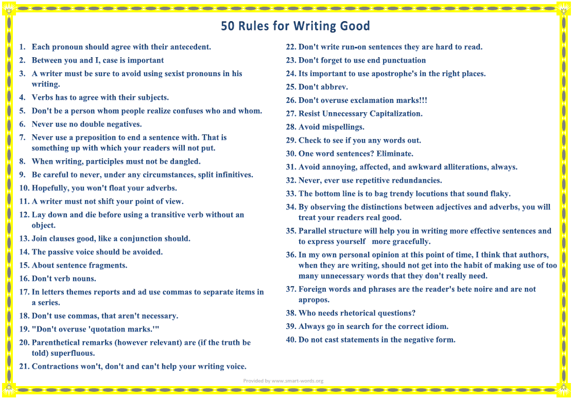 how to write good how to write good 50 writing tips